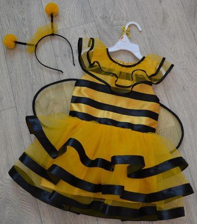 Платье Пчелка, Оса в наличии от 3 до 7 лет и обруч, пчела, под заказ