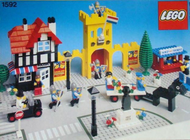 Lego 1592 Town Square (UK) angielski rynek około 1900,unikat 1980 rok