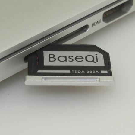 "Adapter Micro SD MacBook Pro Retina 13"" - BaseQi aluminium 303A"