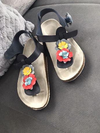 Sandałki japonki skórzane Bartek ecco Geox