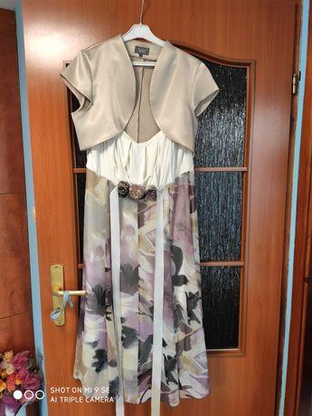 Sukienka wizytowa 42 bolerko 40