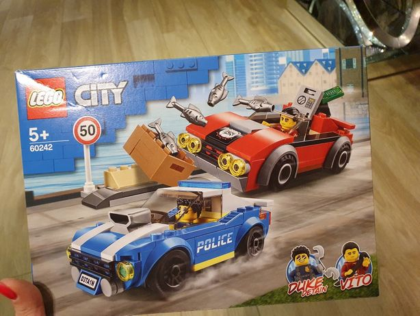 Lego City Klocki zatrzymanie na autostradzie policja