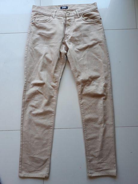 Beżowe spodnie męskie nowe L