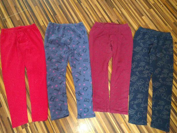 Spodnie legginsy 4 pary 134