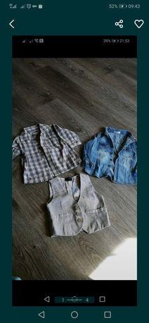 Paka ubrań koszule dla chłopca 68-74