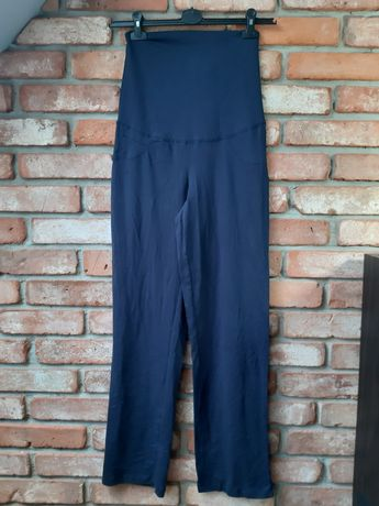 Nowe z metką spodnie dresowe ciążowe granatowe Esmara roz. 36 S