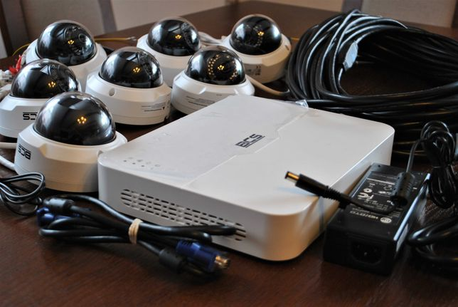 Zestaw 7szt Kamer BCS + Rejestrator BCS Monitoring , MEGA GRATISY !!