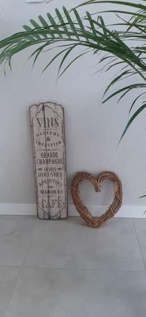 Retro drewniane wiklinowe ozdoby do domu