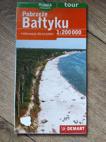 Mapa Pobrzeże Bałtyku