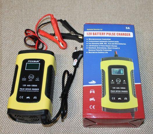 Зарядное устройство для авто мото аккумулятор 5А 12В автоматическое