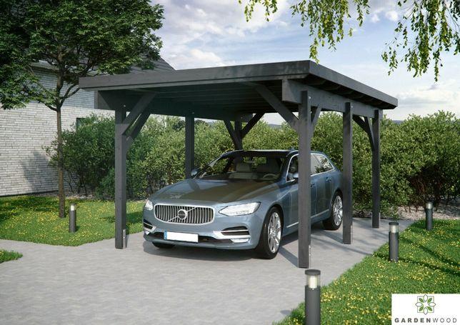 Wiata garażowa samochodowa, carport, zadaszenie dostępne od ręki