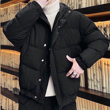 Куртка зимняя мужская солидная ! Чёрная/серая. Курточка тёплая парка!
