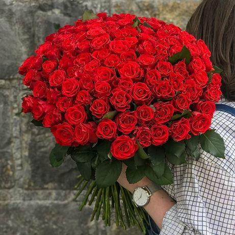 Корпоративні букети. 101 троянда. композиції на ваш смак.