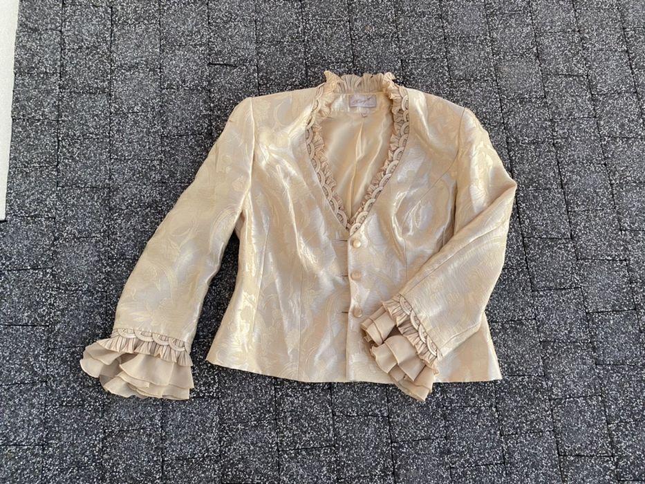 Komplet marynarka żakiet, spódnica i bluzka 44 42 XXL XL Jasło - image 1
