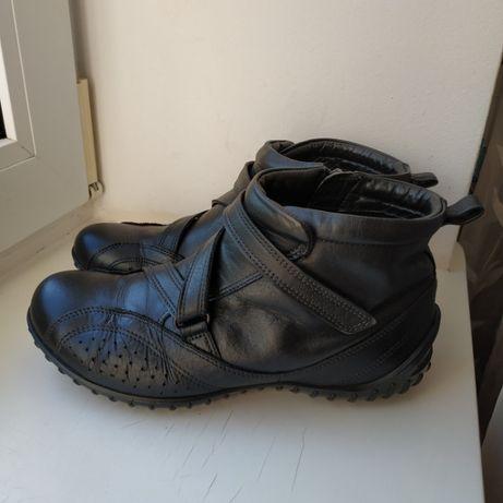 Кожаные ботинки Ecco 37р. 24 см.