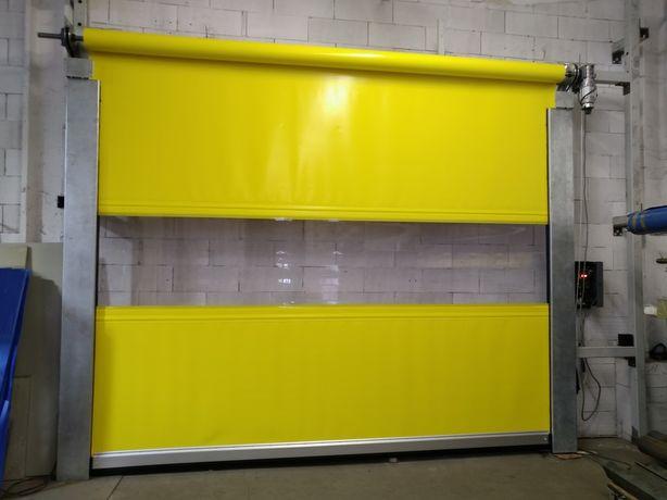 Brama przemysłowa rolowana szybkobieżna -3980x3200