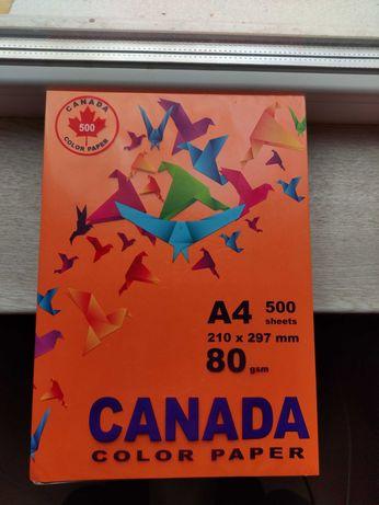 Цветная бумага (оранжевая) А4 500 листов
