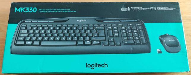 NOWE Logitech MK330 bezprzewodowa klawiatura+mysz
