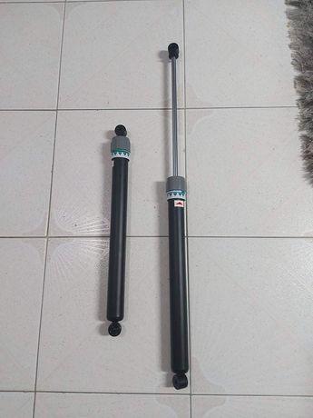 Amortecedor hidraulico novos.  Aberto 80cm Fechados 40cm Com regulador