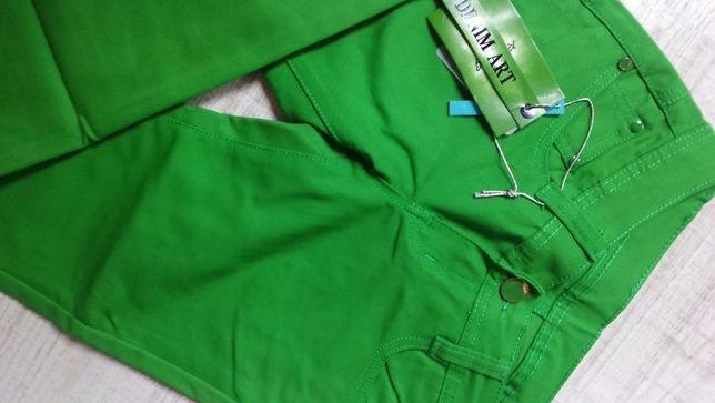 Spodnie jeansy rurki w kolorze zielonym r. 25-31