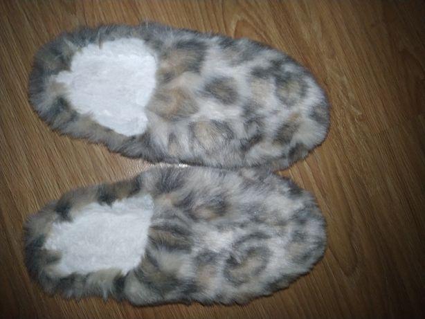 Тапочки леопард новые женские для дома теплые 38 39