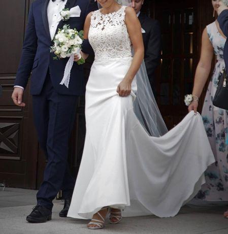 Suknia ślubna MADONNA rozmiar 36+długi oraz krótki welon