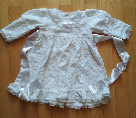 Платье для крещения + носочки в подарок