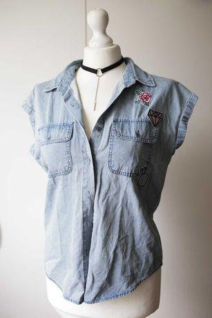 The Urban Haus jeans kamizelka Nowa katana naszywki diament punk rock