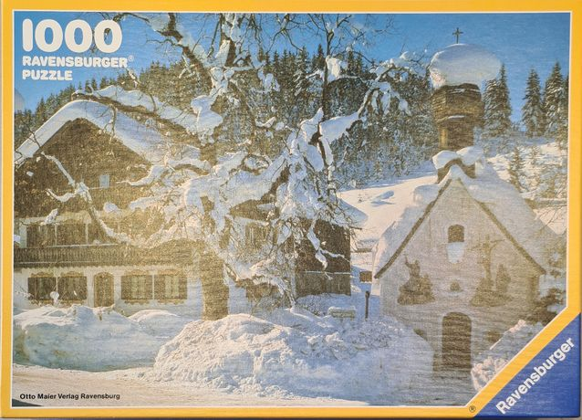 Unikatowe puzzle Ravensburger 1000 elementów kompletne