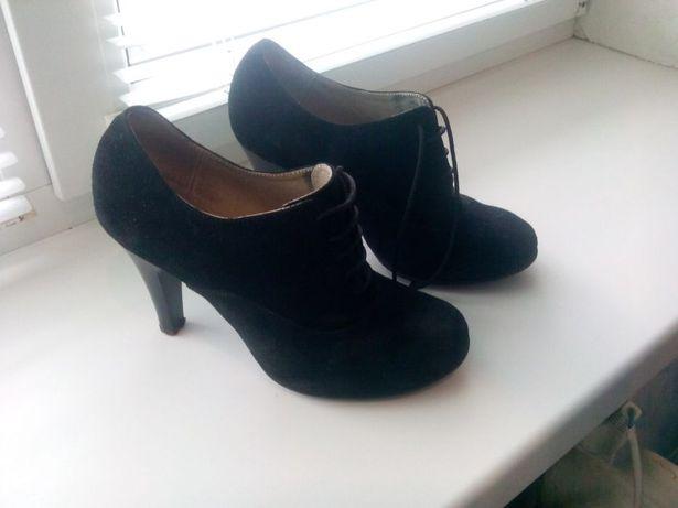 туфли женские весенние замш резиновые