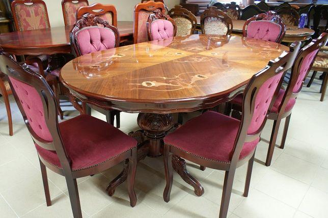 Włoski Stylowy Stół + 6 Krzeseł 8 Osób Wiśnia Zapraszam:)