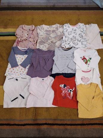 Bluzeczki rozm. 80 Next, Coccodrillo, Zara