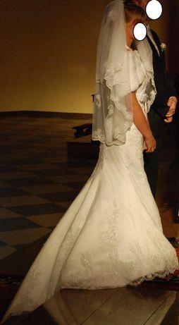 Suknia slubna rybka Annais Bridal 36, biala
