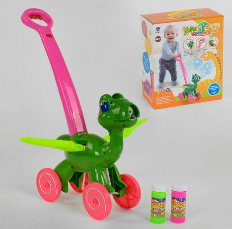 Каталка з мильними бульбашками - Динозавр, звуки, підсвітка