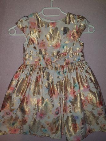 Sukienka w kwiaty 98/104
