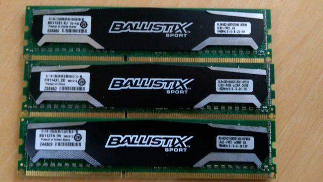 RAM - Crucial Ballistix Sport DDR3 1600 - (3x 4GB)