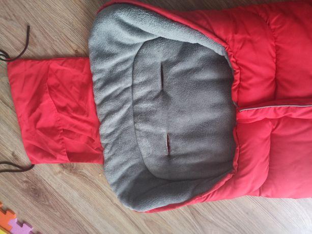 Śpiworek do wózka, sanek, 96 x 45 cm, Ricokids Drimi czerwony