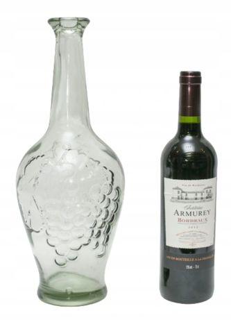 Karafka szklana na wino winogrono 2l