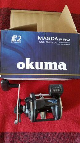 Kołowrotek multiplikator Okuma Magda Pro MA 30DLX leworęczny.