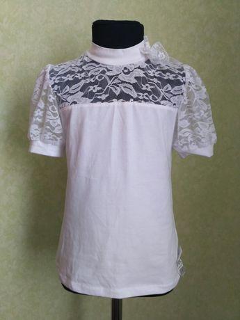 Блузка школьная кофточка белая для девочек Р.34