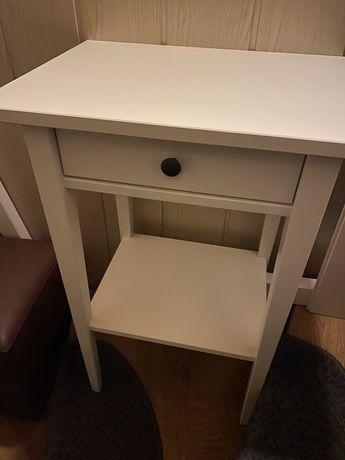 NOWA szafka nocna stolik HEMNES biała bejca.