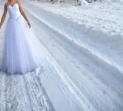 Śliczna niepowtarzalna jedyna w swoim rodzaju suknia ślubna princess