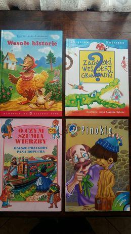 Książki dla dzieci: Pinokio, Wesołe historie, O czym szumią wierzby,
