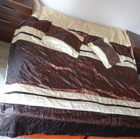 NOWA narzuta na łóżko + 2 poszewki na poduszki 200x220