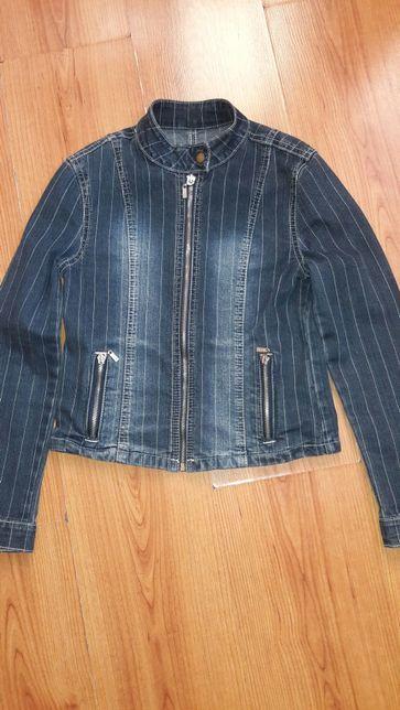 Джинсовый пиджак р 140см.
