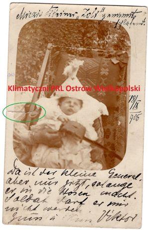 Stara pocztówka dziecko chrzest opis post card znaczek Nyíregyháza ?