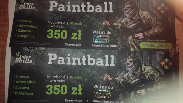 Sprzedam 2 vouchery na paintball