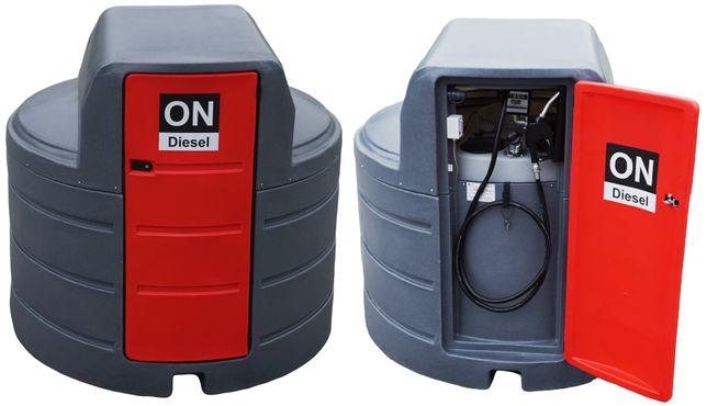 Zbiornik dwupłaszczowy paliwo rope olej napędowy 2500L z DYSTRYBUTOREM