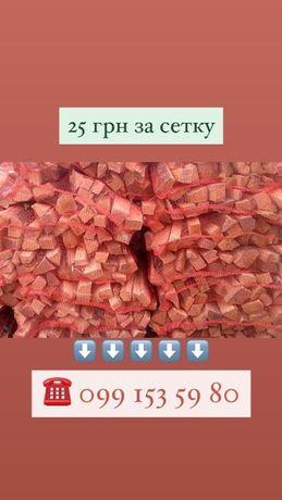 дрова в сетках доставка в день заказа мангал печь баня черновцы