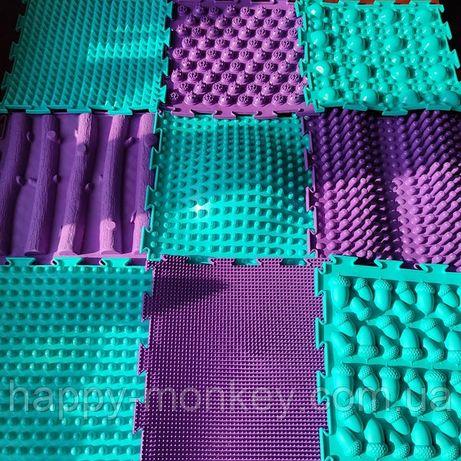 Набор массажных ортопедических ковриков-пазлов ТМ Ортодон на 9 модулей